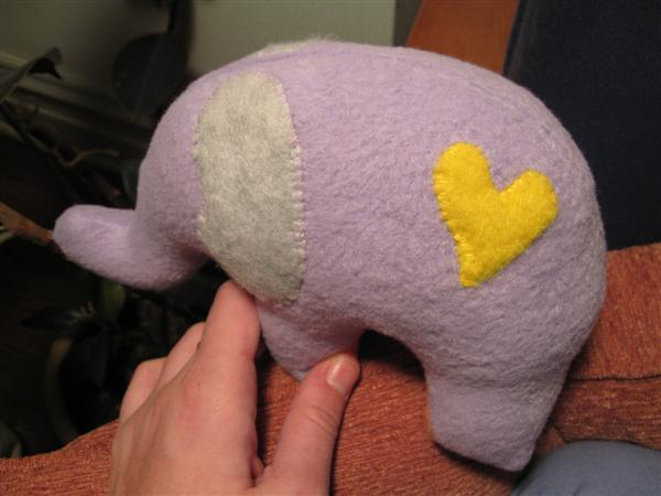 Purple Elephant Heart