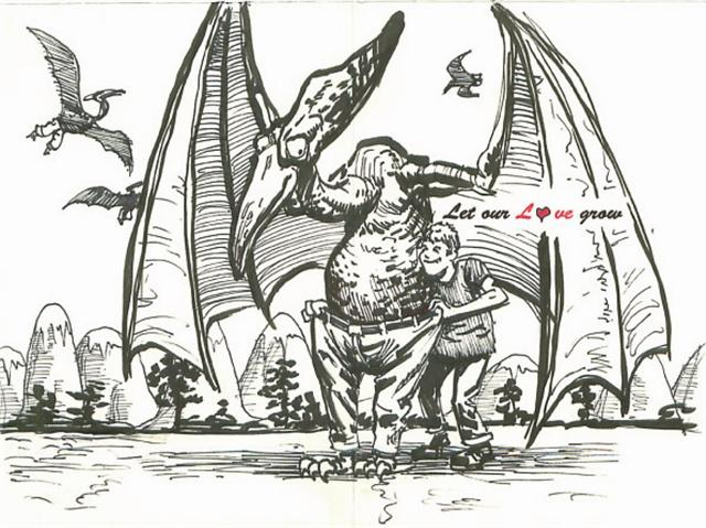 Pterodactyl Pants Card